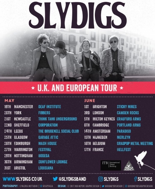 Slydigs UK and European Tour, May-June 2017