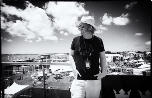 Slydigs frontman Dean Fairhurst performs at The Americas Cup in Bermuda